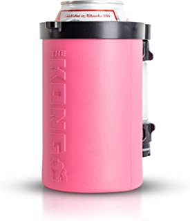 The Kong 2.0. A Portable Can or Bottle Cooler/Cup With A Detachable, Expandable, Hose To Funnel Your Drink. (Pink)