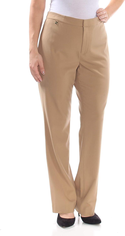 LAUREN RALPH LAUREN Womens Quartilla Wool Suit Separate Dress Pants Tan 12