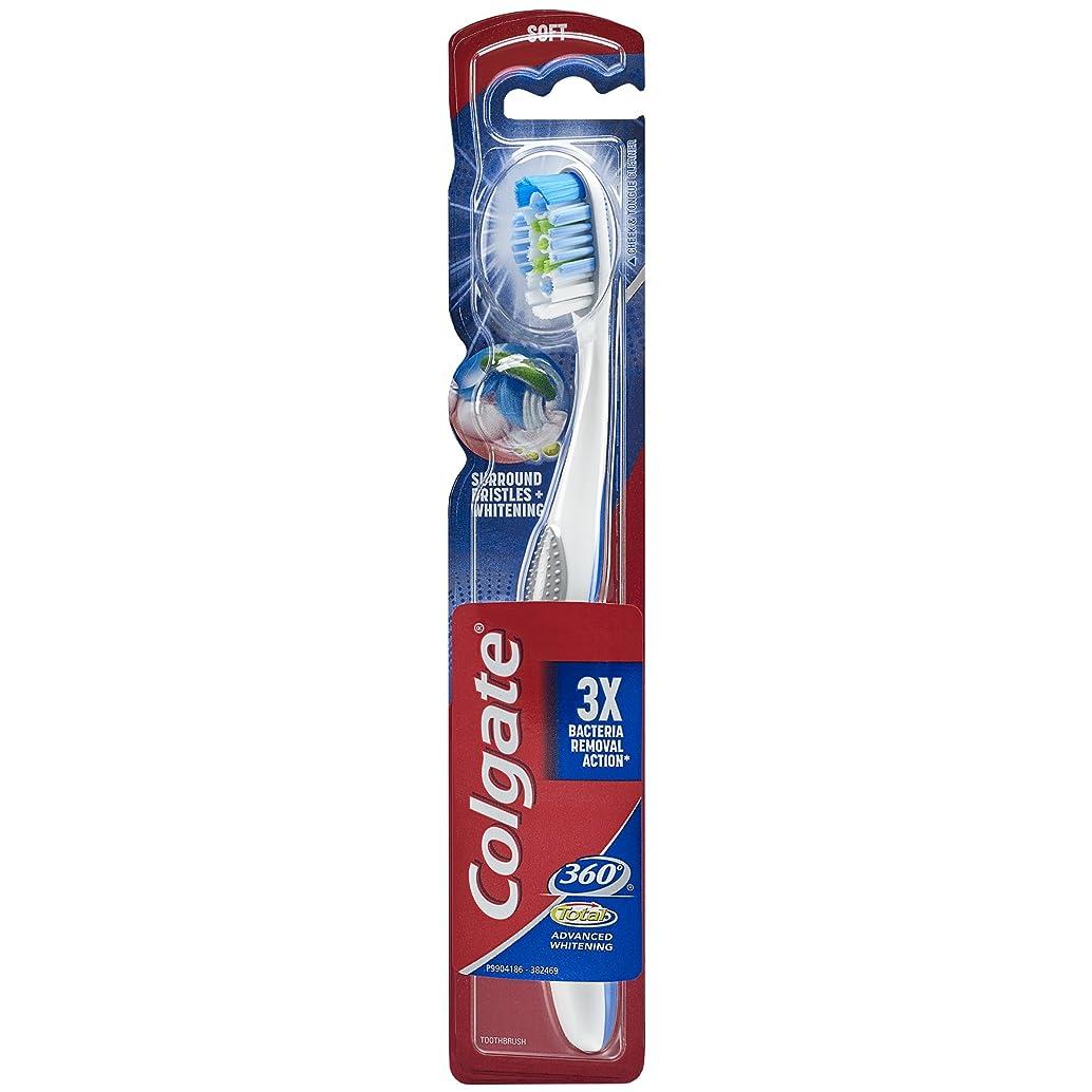 強制以前は固めるColgate 360合計アドバンスト完全な頭部歯ブラシ、ソフト(1パック) 1パック