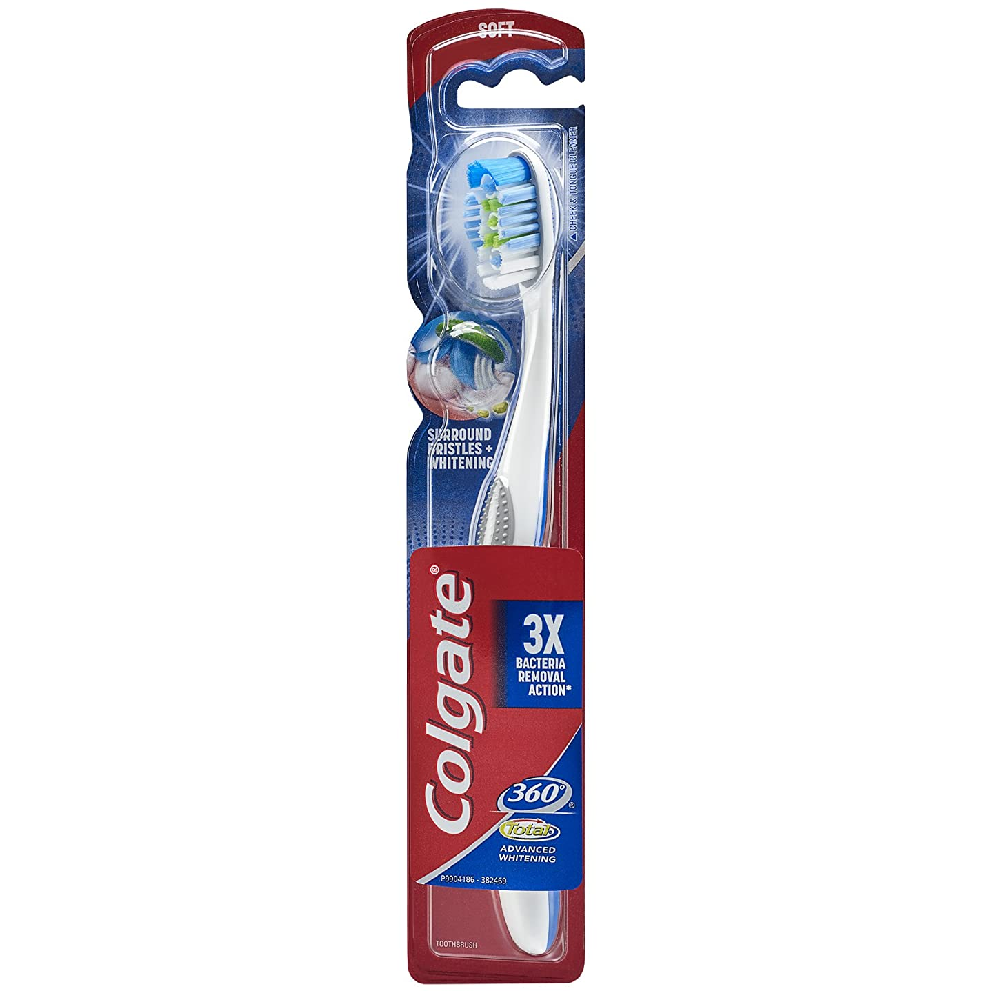 同種の刃収益Colgate 360合計アドバンスト完全な頭部歯ブラシ、ソフト(1パック) 1パック