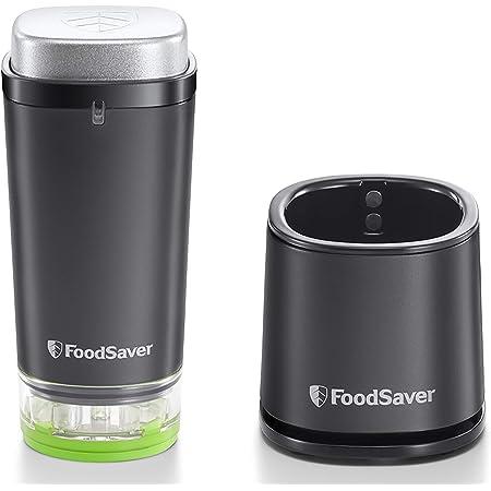 FoodSaver VS1192X Machine Sous Vide Alimentaire Portative et sans fil avec station de chargement, 1 boîte sous vide et 5 sacs sous vide à glissière, noir