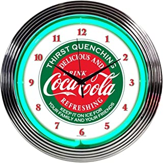 Neonetics Drinks Coca Cola Evergreen Neon Wall Clock, 15