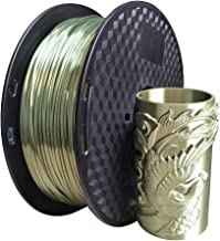 Silk Green Bronze PLA Filament 1.75mm 3D Printer Filament 1KG (2.2LBS) Printing Materials Bronze Shine Silky Shiny Bronze Metallic Metal Look Silk Like CC3D Also Silk Gold Silver Copper