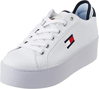 Tommy Jeans Logo Flatform RWB Womens White Trainers