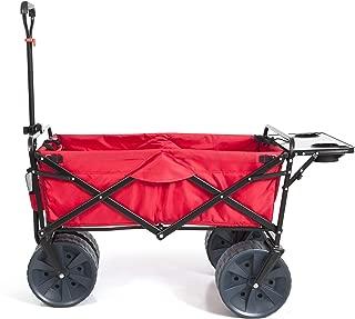 Mac Sports Heavy Duty Collapsible Folding All Terrain Utility Beach Wagon Cart (Red/Black)