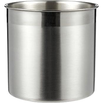 Soporte para utensilios de cocina, de acero inoxidable, para utensilios de cocina, para organizar y almacenar utensilios de cocina, color plateado, 5 x 5 pulgadas: Amazon.es: Hogar