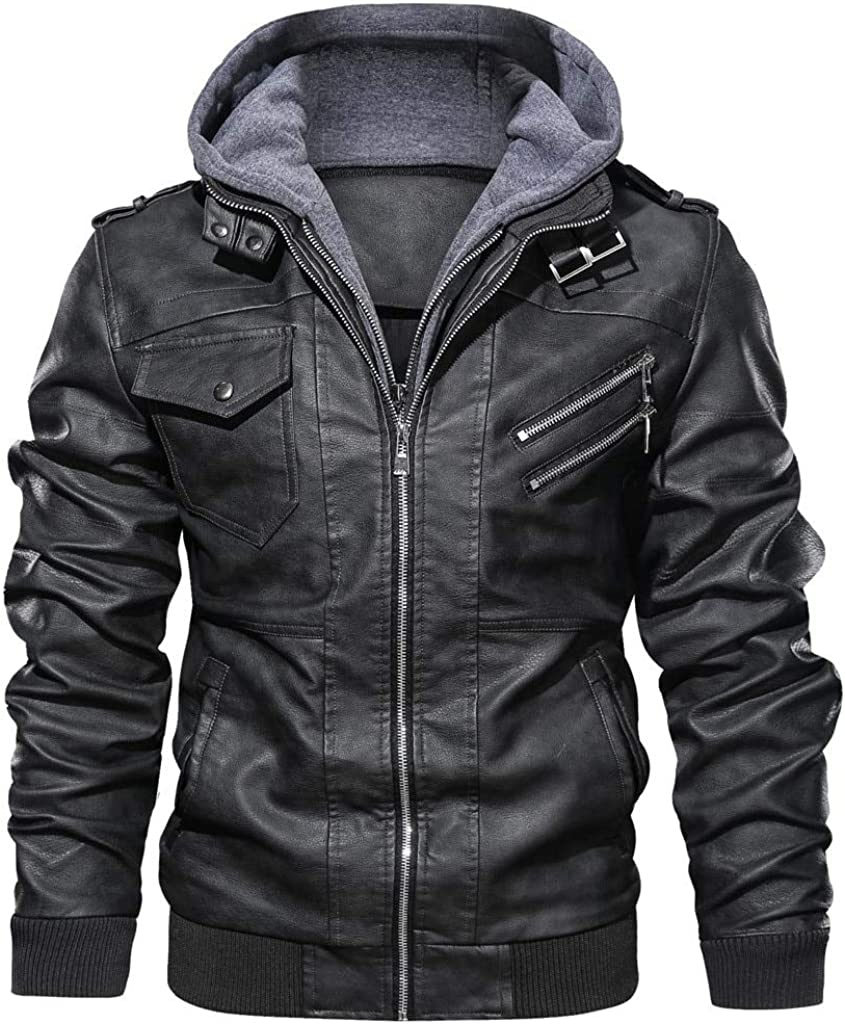 Excellent Nomber 2 Color New Leather Jackets Winter 2021new shipping free Autumn Casual Hood Men