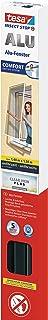 tesa Insect Stop ALU Comfort Vliegenhor voor ramen - Aluminium frame - Muggenbescherming zonder boren - Vliegengaas raam o...