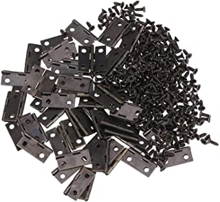 250 قطع الثقيلة المفصلي التلقائي إغلاق الربيع مفصلات المعادن المفصلي للمجوهرات مربع 50 قطعة مفصلات و 200 قطعة مسامير