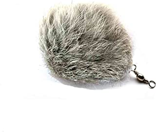 Kats'N Us Cat Teaser Wand Refill Rabbit Fur Pom Pom Cat Toy - Gray