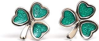 shamrock earrings sterling silver