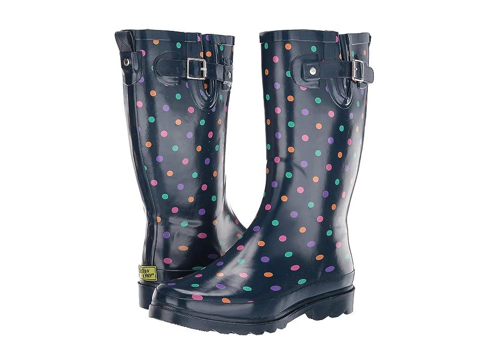 Western Chief Simple Dot Rain Boot (Navy) Women