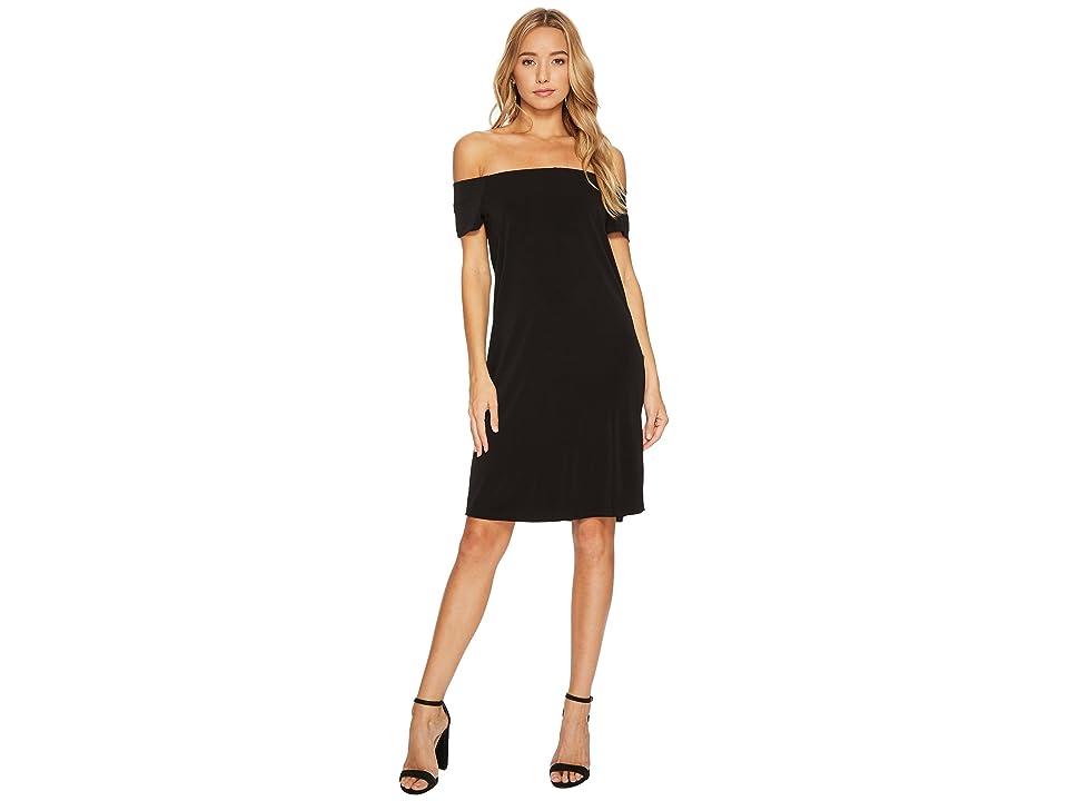 Bishop + Young Bare Shoulder Dress (Black) Women