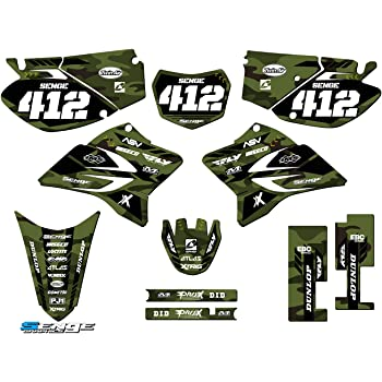 Apache Green Complete kit Compatible with Yamaha Senge Graphics 2008-2020 TTR 125