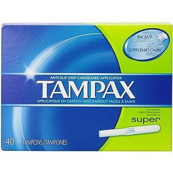 Tampax Cardboard Applicator Tampons, Super Absorbency 40 ea (Pack of 3)