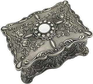 Caishuirong Cajas de joyería Joyería joyero Caja de Almacenamiento Regalo de la decoración de Trompeta Retro Metal Antiguo...