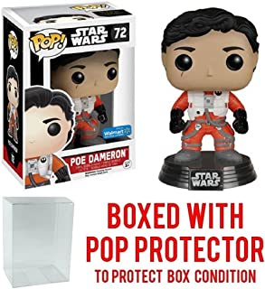 Funko Pop! Star Wars: The Force Awakens - X-Wing Poe Dameron #72 (Walmart Exclusive) Vinyl Figure (Bundled with Pop BOX PROTECTOR CASE)