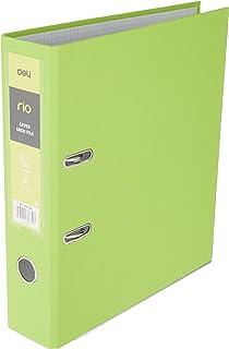"""Deli EB20160 Rio Lever Arch PP A4 File, 3"""" Spine, Green"""