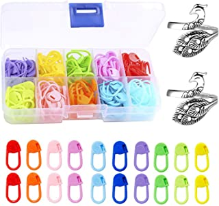 120 Pcs Crochet Stitch Markers Knitting Lacking Markers and