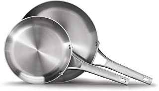 Calphalon 2029630 Premier Stainless Steel 2-Piece Frying Pan Set, Silver