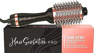 برس مو خشک کن - برس خشک مو با ژنراتور ION ، خشک کردن سریع ، سشوار و حالت دهنده برای نتایج سالن ، سشوار و حجم دهنده عالی یک مرحله ای برای انواع مو ، گل رز