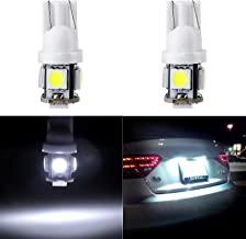 cciyu 194 Extremely Bright LED Bulbs 5-5050-SMD Light Lamp License Plate Light Lamp Wedge T10 168 2825 W5W White Pack of 2