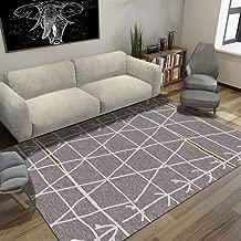Tsavm Nordic Minimalist Lines Carpet for Living Room Bedroom Modern Anti-Slip Area Rug Safe Floor Mat Home Decor