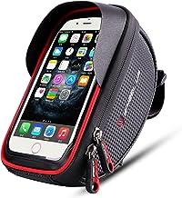 Wallfire Bolsa de soporte para teléfono de bicicleta, para manillar de bicicleta, con pantalla táctil impermeable, para iPhone X 8, 7, 6S, 6 Plus, 5S, Samsung Galaxy S7, S6, Note 7, teléfono celular por debajo de 6.0 pulgadas + cubierta para lluvia