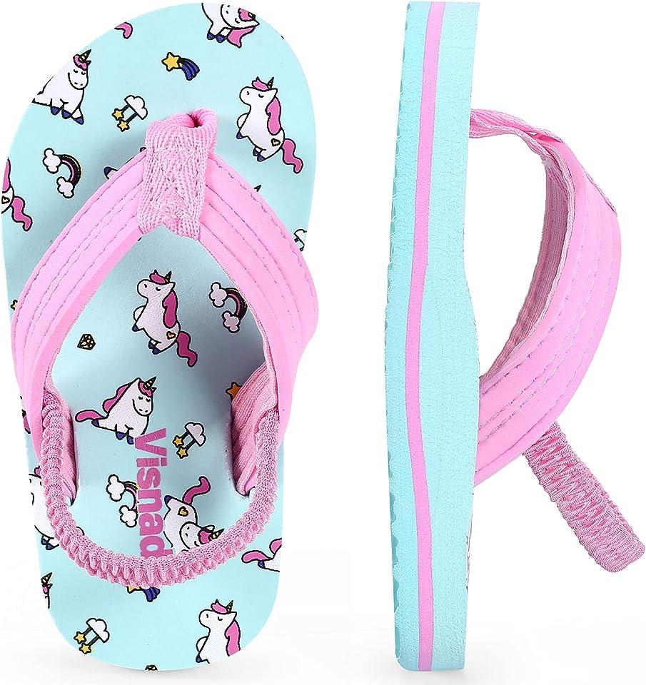 Toddler Boys Girls Flip Flops Kids Sandals Slippers Summer Swim Water Shoes for Beach Pool Shower