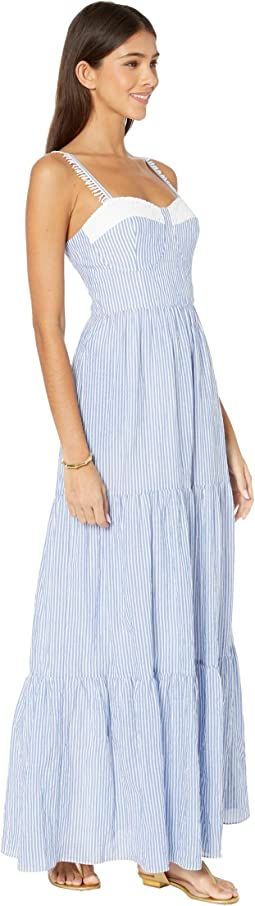Coastal Blue Lightweight Oxford Stripe