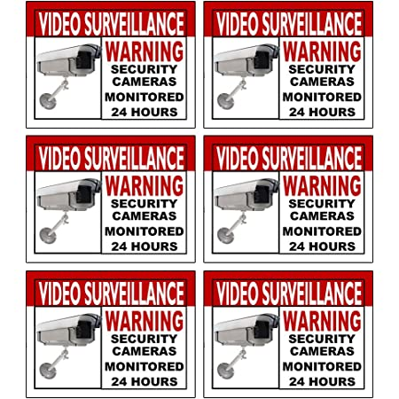 Security Video Cameras in use Recording Sign Business Store Vinyl Window Decal.