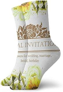 BEDKKJY, Calcetines con Cuello Redondo Invitación Floral Maravillosa Mujer Casual Calcetín de Vacaciones Liquidación para niños