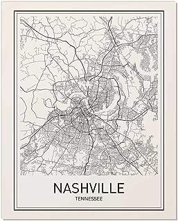 Nashville Poster, Nashville Map, City Map Posters, Nashville Map Print, State Tennessee, Tennessee Map, Modern Map Art, Black and White, Map Wall Art, Map Art, Scandinavian Poster, 8x10