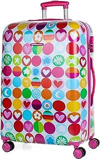 Agatha Ruiz De La Prada Happy Suitcase, 66 cm, 65 liters, Pink (Fucsia)