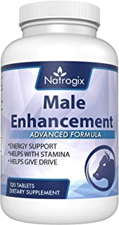 Natrogix (120 Tablets) Male Enhancement Testosterone Booster Pills - Includes Tongkat Ali to Increase Sex Drive, Libido, Promote Muscle Building & Enhance Performance