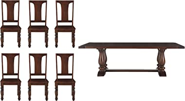 Shakti 6 Seater Dining Room Set (Brown, FCB-DT72-6C)