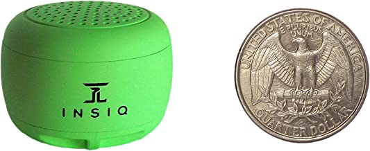 World's Smallest Portable Bluetooth Speaker - Great Audio Quality for its Size - 30+ Feet Range - Photo Selfie Button Answer Phone Calls Compact Compatible with Latest Phone Software (Green)