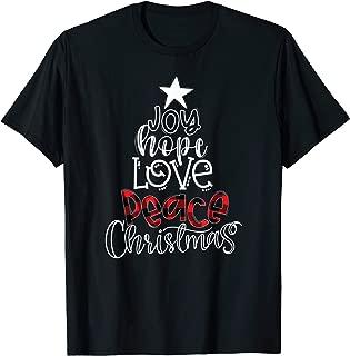 Joy Peace Love Hope Christmas Matching Family Pajama Gift T-Shirt