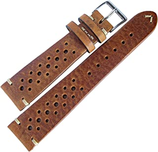 Fluco Hunter Racing 19mm Tobacco Leather Watch Strap