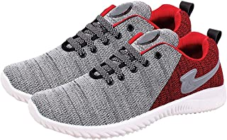 SKYMATE Red Lite Weight Sport Shoes for Boys