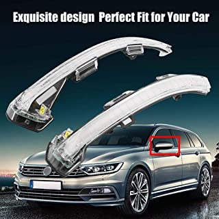 LED Side Mirror Dynamic Turn Signal Sequential Light For VW Passat B8 2015-2017 (White)