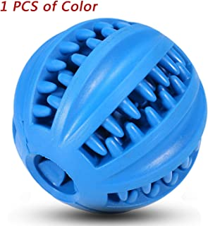 EETOYS IQ Treat Ball.Fun Interactive Food Dispensing Dog Toy. Non-Toxic Natural Rubber Tooth Cleaning Toy.Interactive Dog Toys for Medium and Large Dogs