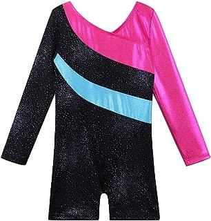 Leotard for Girls Gymnastics Toddler Sparkle Stripes Tank Biketards One Piece