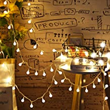 led globe string lights warm white