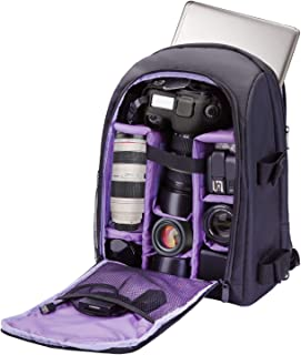 Camera Backpack Waterproof by G-raphy for DSLR/SLR Cameras (Canon, Nikon, Sony and etc), 17'' Laptops, Tripods, Flashes, L...