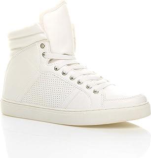Chaussure Basket Bottine Homme Hautes Sneakers décontractée Plate Lacet Hauteur Cheville Taille