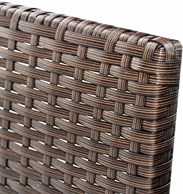 "Chloe Rossetti Outdoor Sofa Set Nine Pieces Brown Poly Rattan sofa set Three-seat sofa size: 5' 11"" x 1' 11"" x 1' 11"" (W x D x H)"