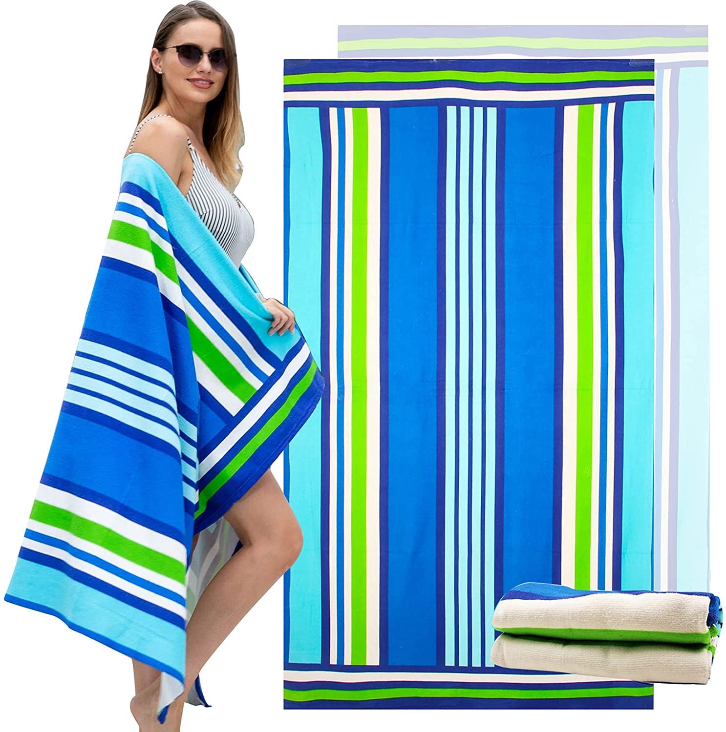 Cottdy Oversized List price Microfiber Beach Extra Towel Large S low-pricing