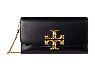 Tory Burch Eleanor Clutch (Black) Clutch Handbags