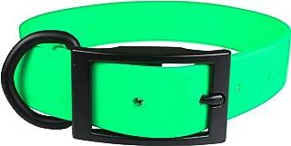 "OmniPet Zeta Regular Dog Collar with Black Metal Hardware, 3/4"" x 20"", Green"